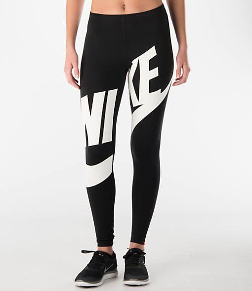 Women's Nike Leg-A-See Exploded Leggings - 726087 726087-010| Finish · Black  ...