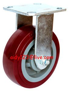 4 5 6 8 Inch Heavy Duty Fixed Industrial Pu Caster Wheel For Plateforms Heavy Duty Caster Wheels Heavy Duty Caster Casters Wheels