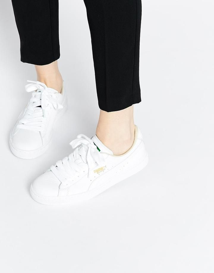 size 40 5be09 d3fdd Basket Classic White Sneakers | BEAUTIFUL SHOES in 2019 ...