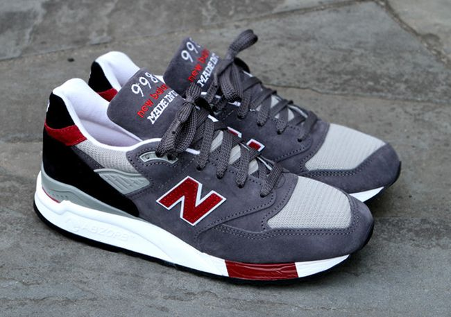 new balance 998 red black&white wedding