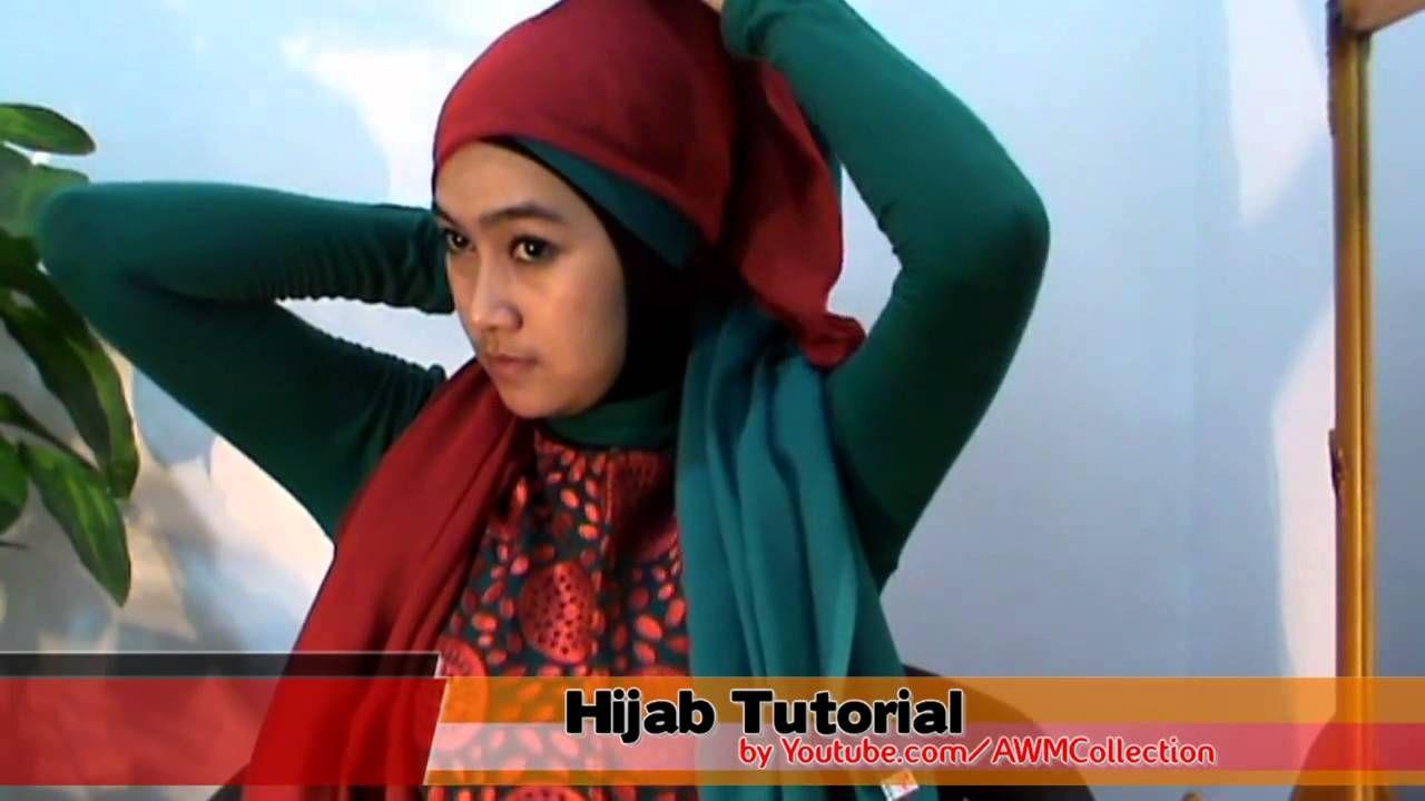 Tutorial Hijab Paris Segi Empat Dua Warna Special Ramadhan