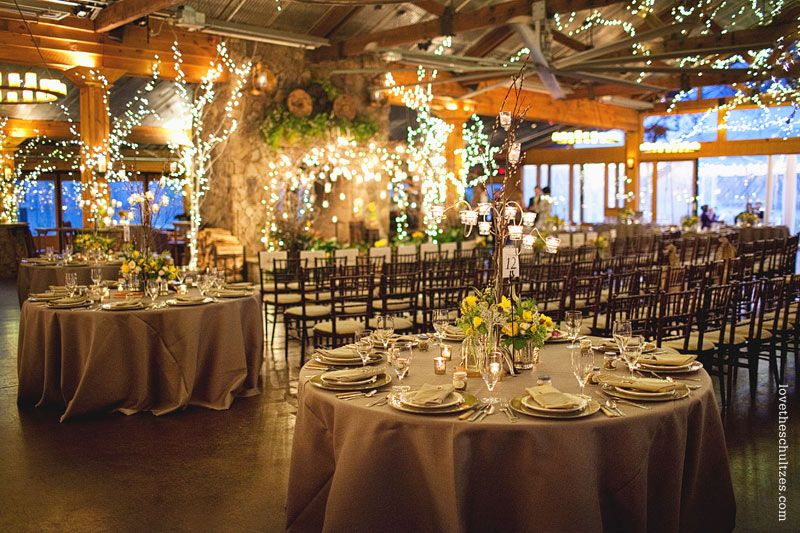 Ceremony and reception in the same space Indoor wedding