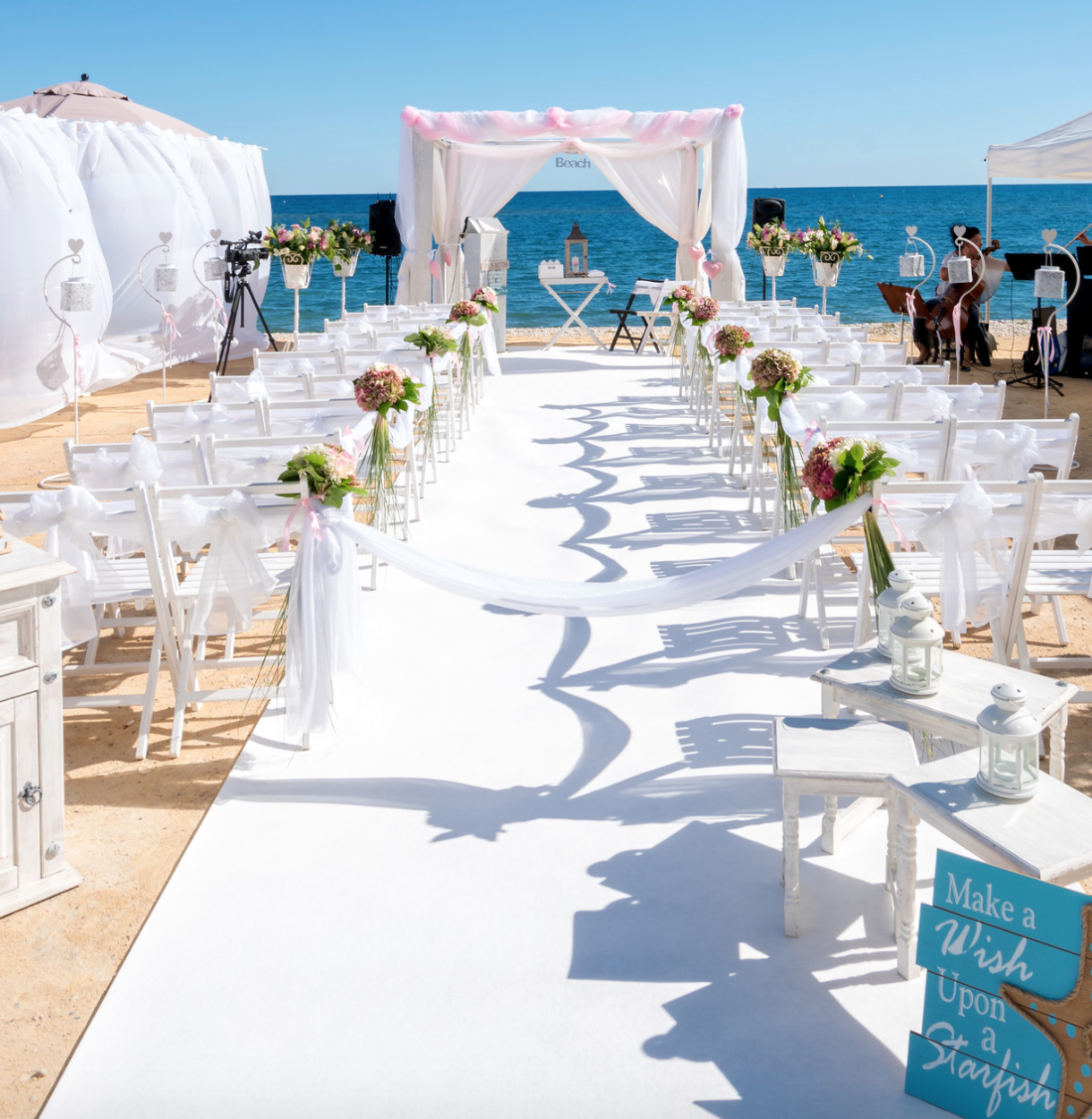 Intimate Wedding On The Beach In Altea Spain Sea Breeze Waves Great