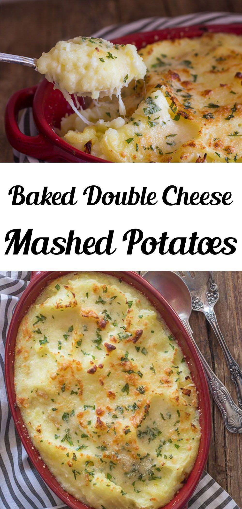 Baked Double Cheese Mashed Potatoes - An Italian i