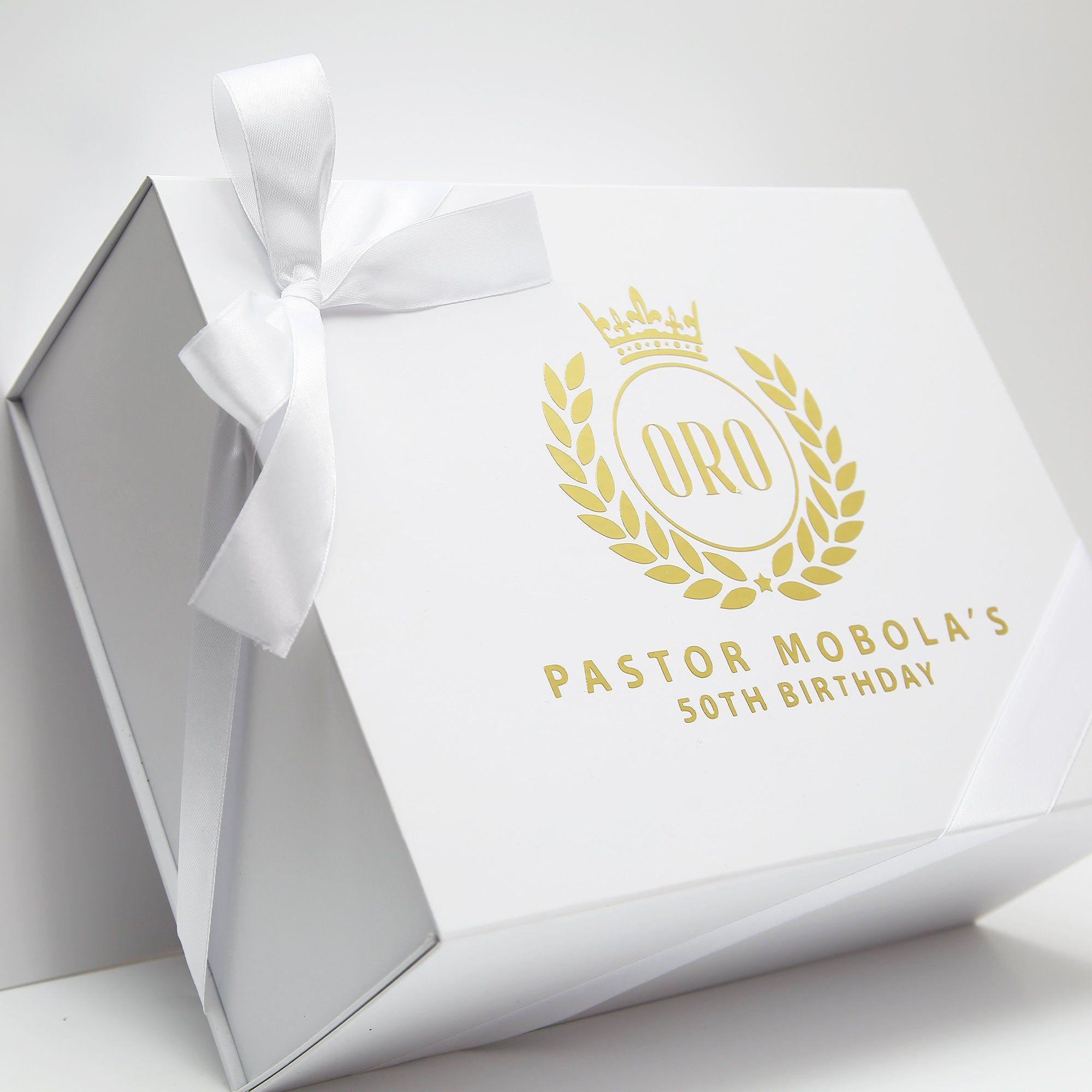 Gift box with logo logo printed shut box etsy