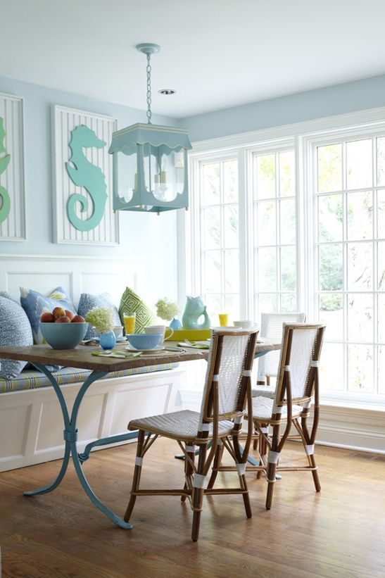 Lynn Morgan Design Coastal Inspired Kitchens Dining Room Blue