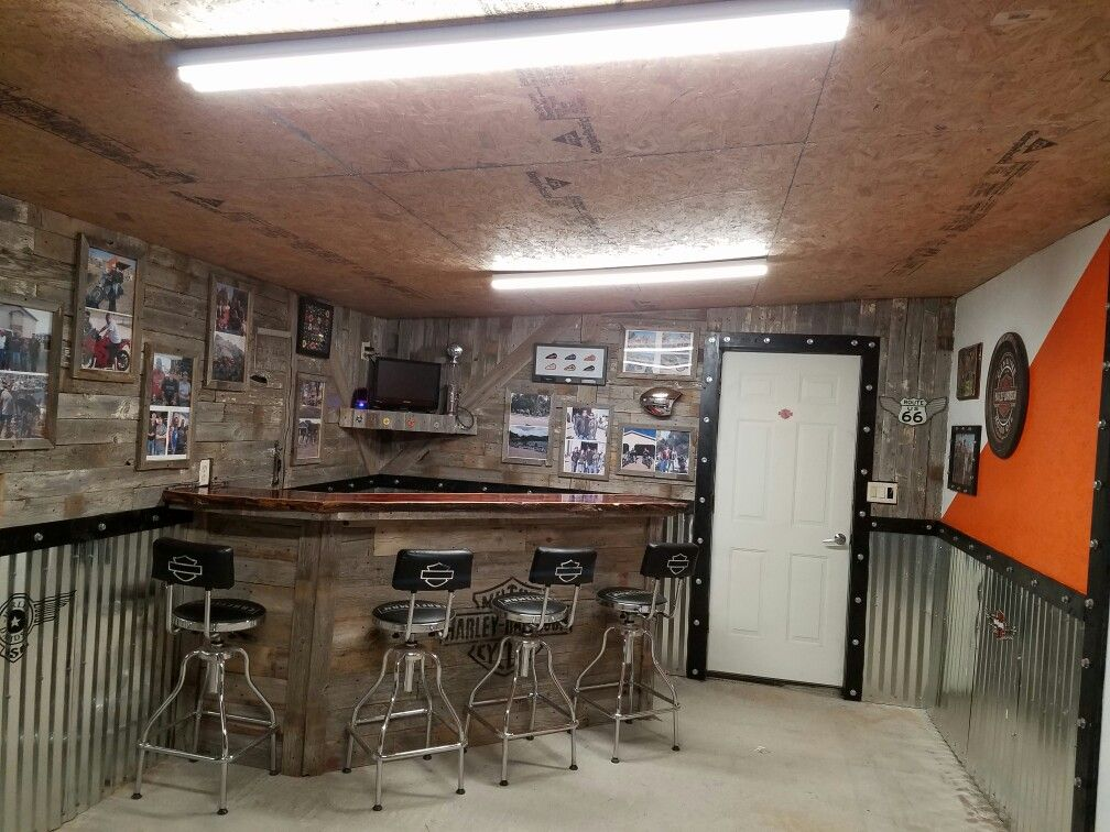Biker mancave bar | mancave | Pinterest | Bar, Men cave and Cave