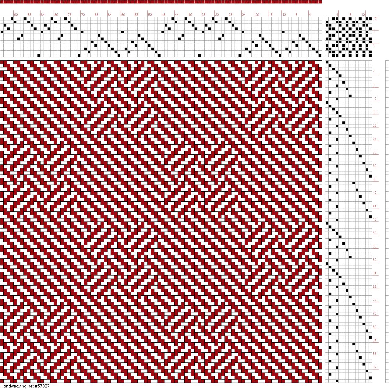 draft image: Page 1, Figure 2, Posselt's Textile Journal, April 1911, 12S, 14T