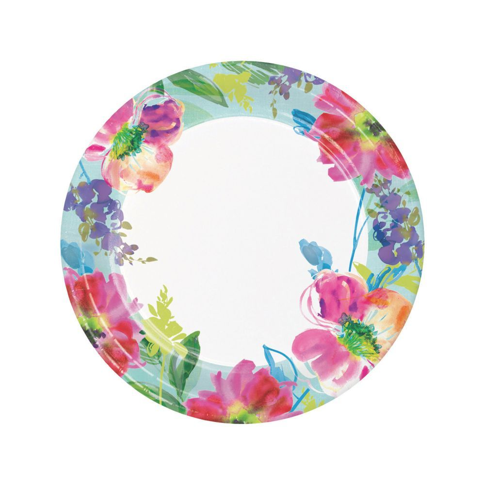 Painterly Floral Dinner Paper Plates  sc 1 st  Pinterest & Painterly Floral Dinner Paper Plates | Products