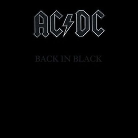 Ac Dc Back In Black Compact Disc With Images Acdc Back To