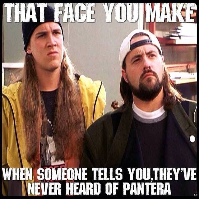 PANTERA (:€.....it's always a shame when someone has never heard of a great band!