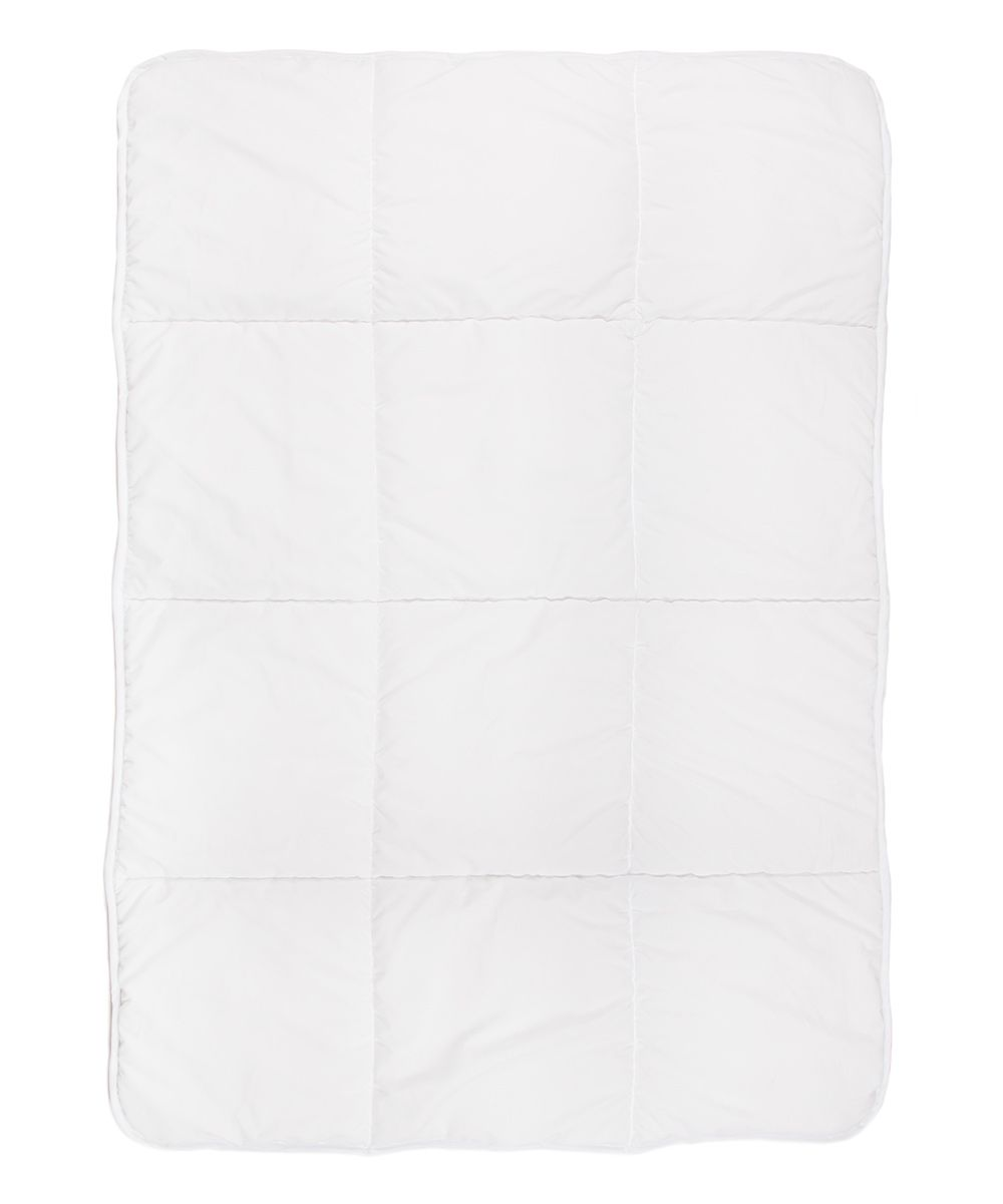 Square-Stitch Microfiber Toddler Comforter