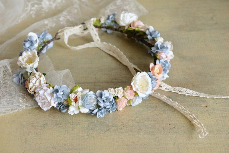 Wianek Z Papierowych Kwiatow Mamwene Kwiaty Do Wlosow Accessories Band Fashion