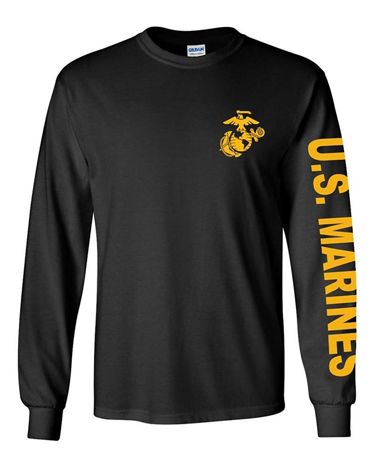 Long Sleeve Graphic Tee Military Tactical Gear Clothes USMC Marines T-shirt Top