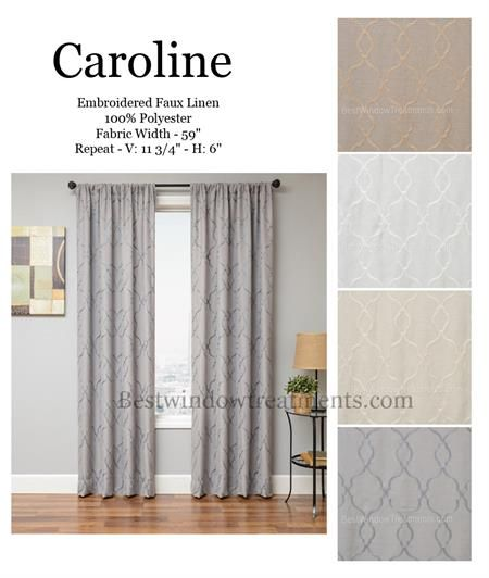 Caroline Curtain Drapery Panels Curtains Drapery Panels Home Decor