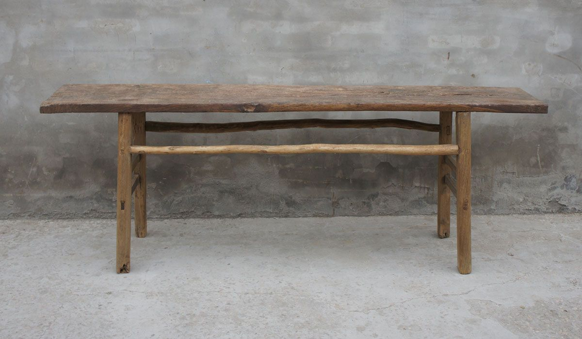 Console en orme brut chine 19eme siècle.collection: nature wood