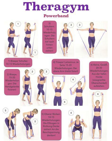 Ein 10 Minuten Theragym Workout für eine knackige Figur! #armbandworkouts