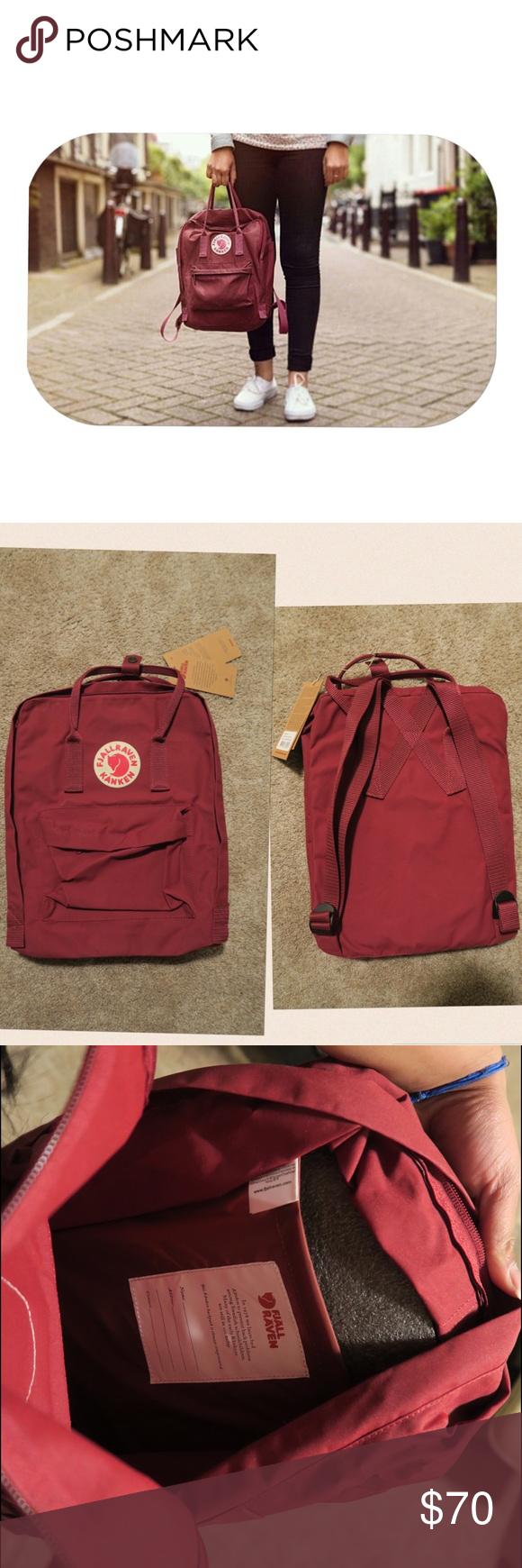 Fjallraven Kanken Full Backpack: Ox Red Brand new never worn!! I
