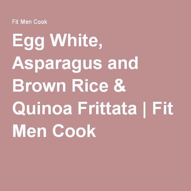 Egg White, Asparagus And Brown Rice & Quinoa Frittata