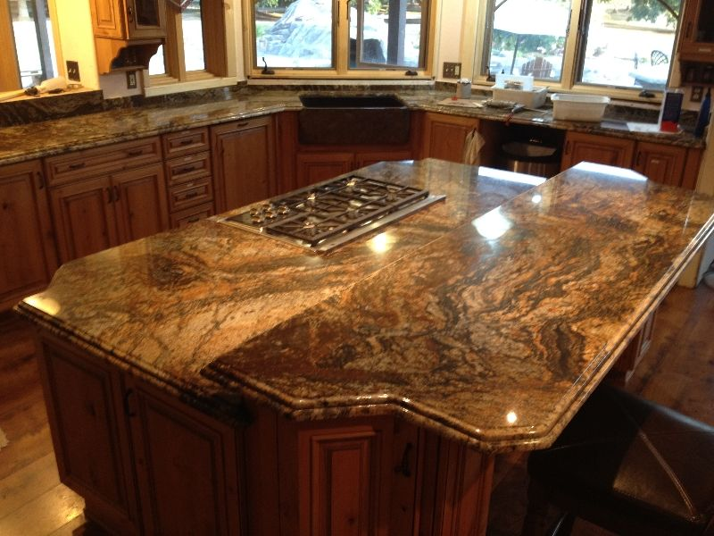 I Love Granite That Has Dark Rich Colors With A Large Grain Vein Lots Of Variations Lots Of Interesting Swir Tuscan Kitchen Kitchen Inspirations Countertops