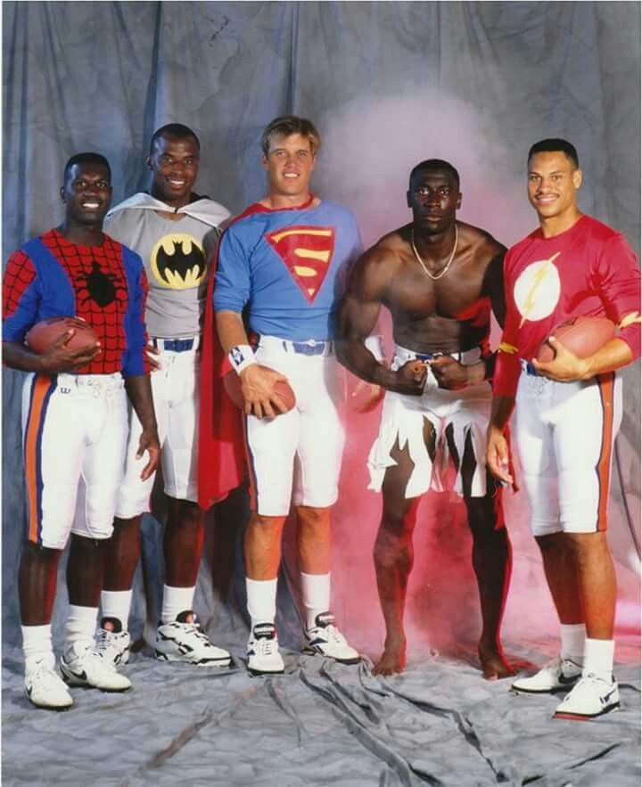 93621f60399 Hoping Superman John Elway can bring some super powers to the game tomorrow  night! Let's Go Broncos!! LOL! Shannon Sharpe as the Hulk!! That's a good  one!