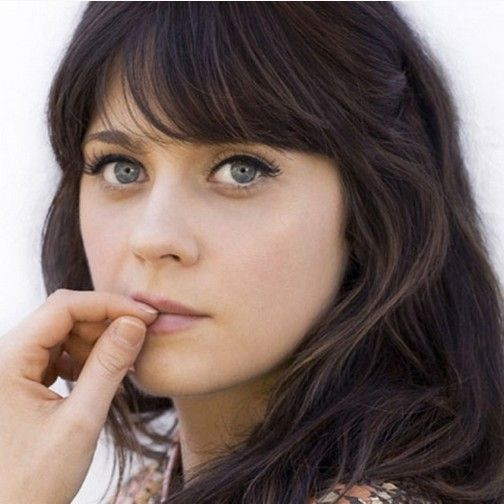 Fabulous Long Hairstyles With Zooey Deschanel Bangs Hair