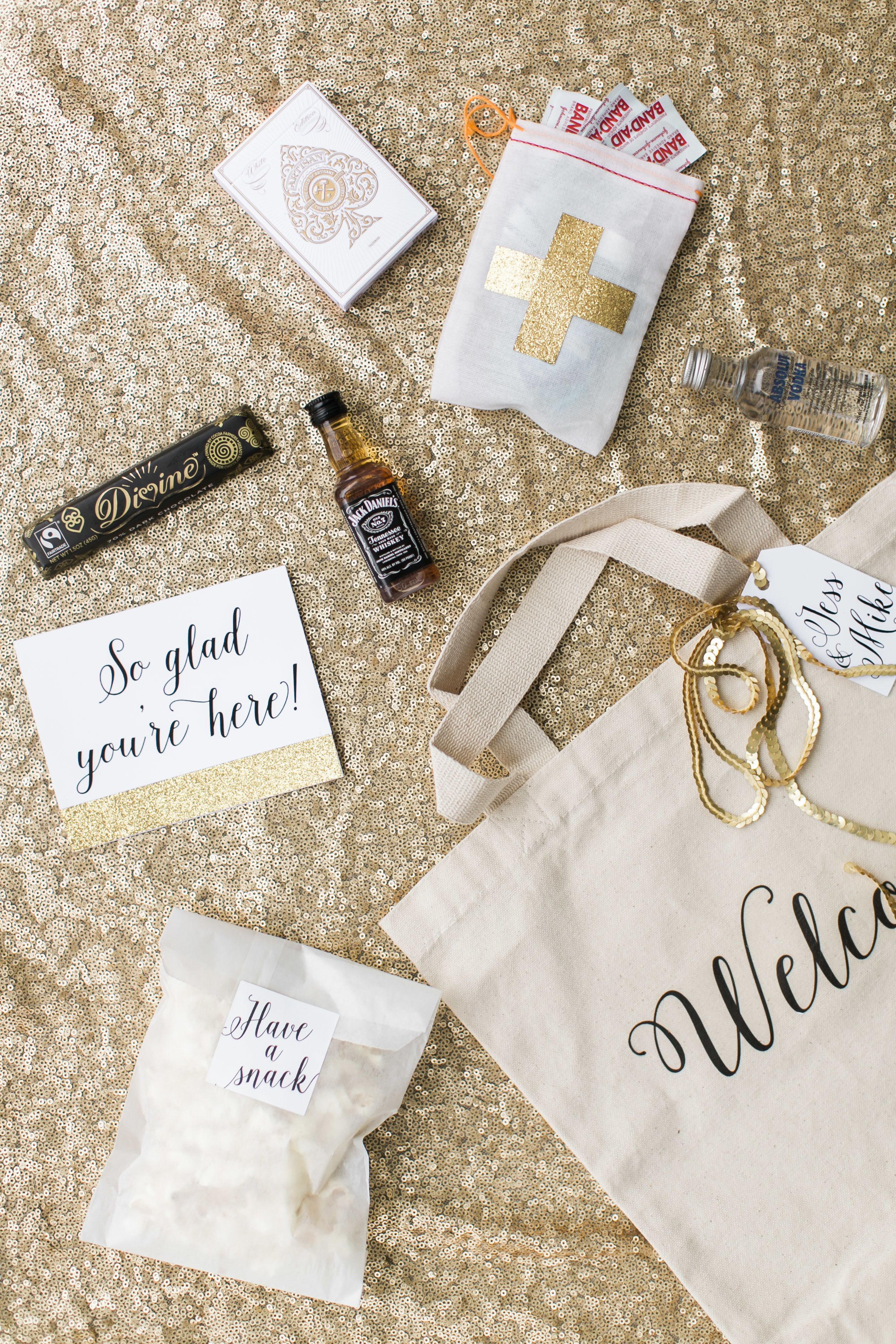 Welcome To Our Wedding Weekend Gift Bags: DIY Welcome Bag With Avery