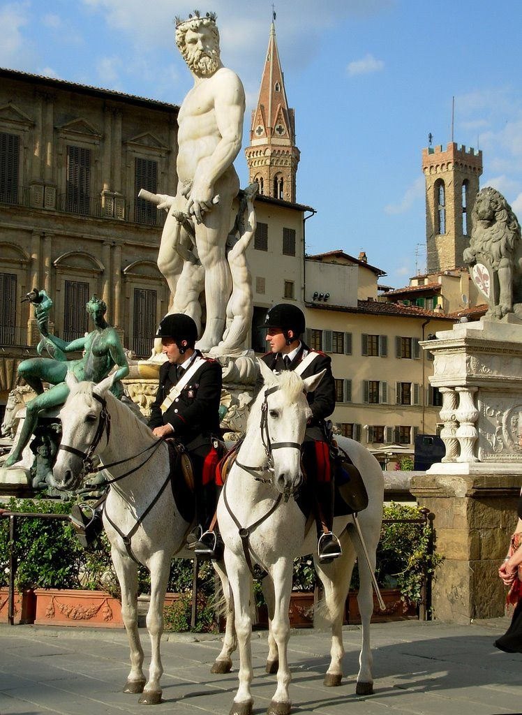Firenze, Carabinieri a cavallo...© by leo1383 Florence Tuscany