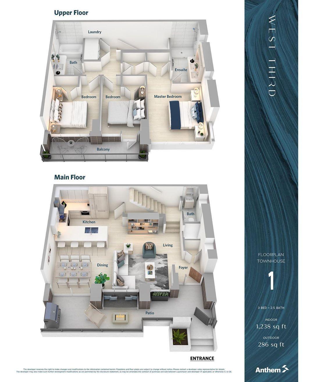 Optimum Floor Plan Designs On Instagram West Third Townhouse 1 2 Theanthemway Optimumfloorplandesigns Realestate Vancouver Vancouver Denah Rumah Rumah