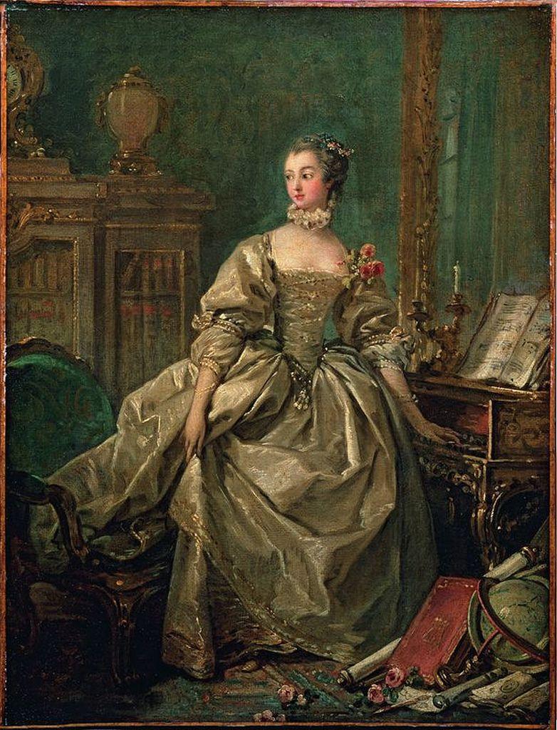 François Boucher 'Madame de Pompadour, Hand on Clavier Keyboard' circa 1750  | I ) A Pintura Francesa no Século XVIII : Boucher, Fragonard e Chardin. |  Marquis…