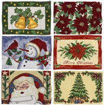 Bulk Christmas House Tapestry Placemats At Dollartree Com Christmas House Placemats Tree Tapestry