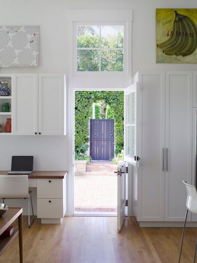 White Dutch Door, Gardenista Glass Window Up To Ceiling