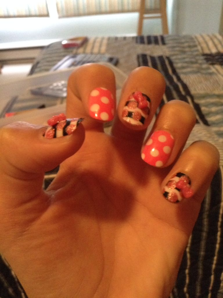 Cute fake nails from justice! | Beauty | Pinterest