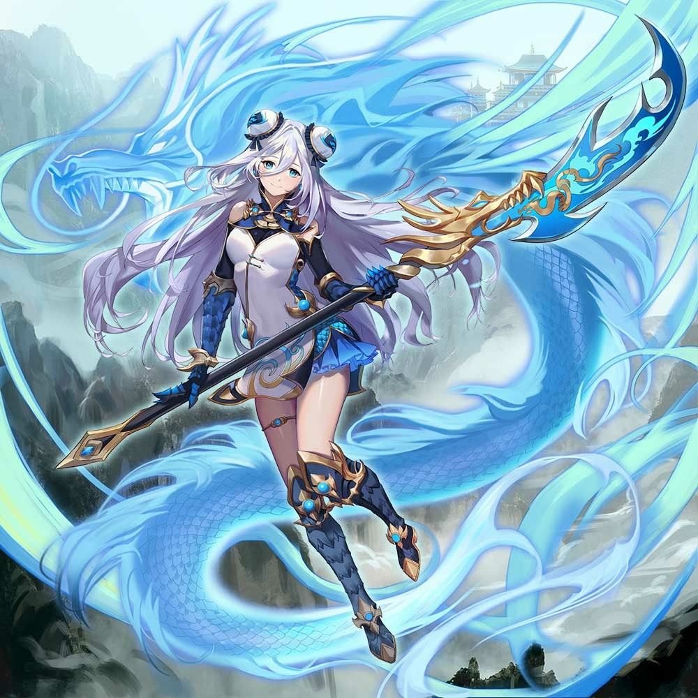 Illustration by Ateam She appears in Valkyrie Connect