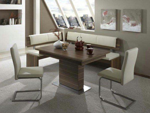 Esszimmer Eckbank Elegante Weiße Stühle
