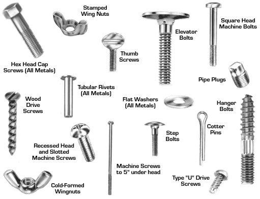 screws bolts fasteners