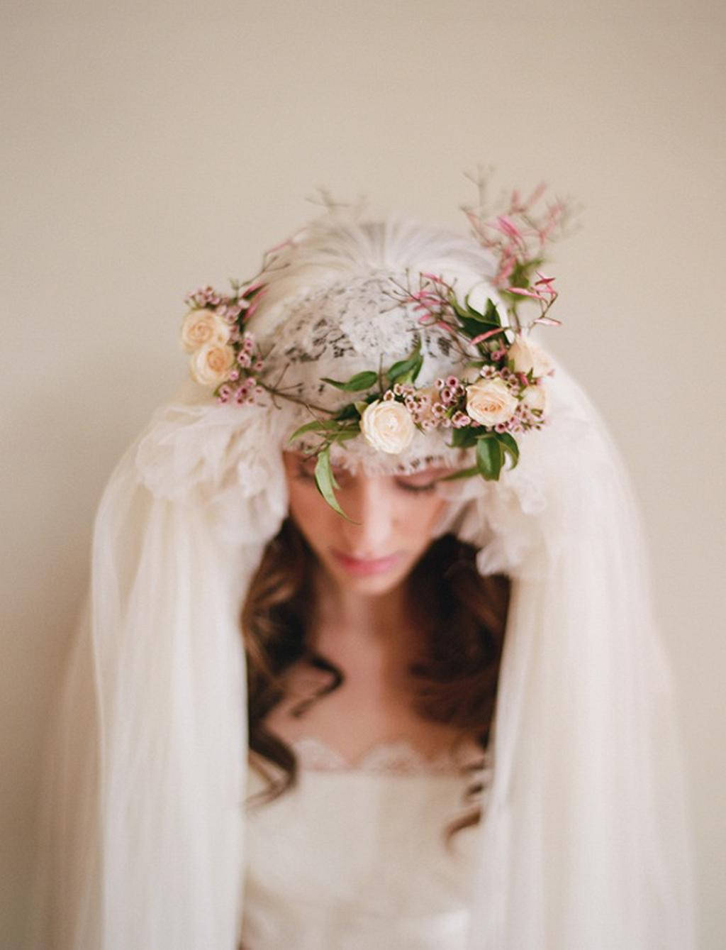 20 Gorgeous Flower Crown Veil Ii Flower Crown Veil Flower Crowns