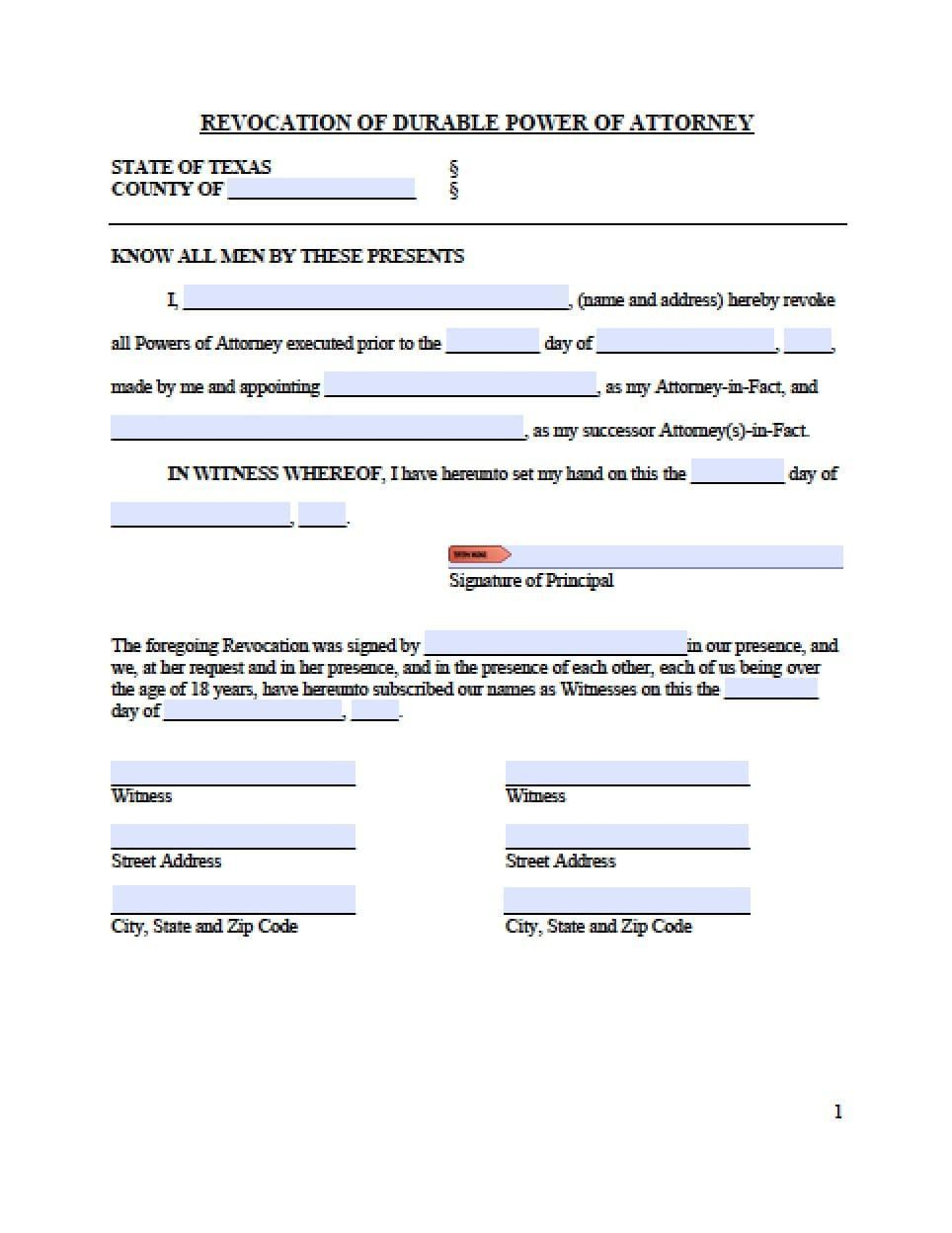 Power Of Attorney Template For Children Very Good Texas Revocation Power Of Attorney Form Pow Power Of Attorney Form Power Of Attorney Attorneys