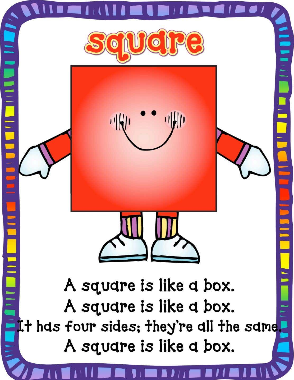 Square Song Poster In