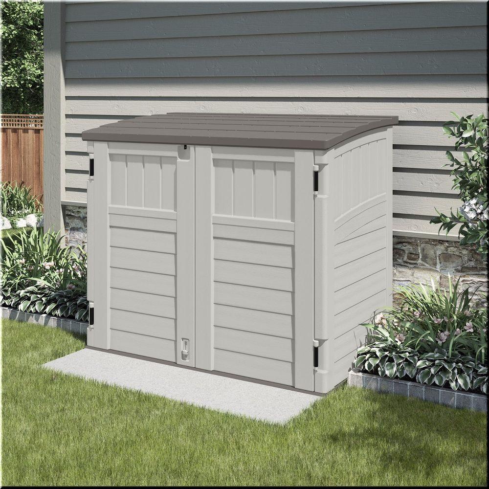 Outdoor Storage Shed Plastic Garden Tools Organizer Backyard 4\'x3 ...