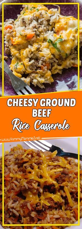 Cheesy Ground Beef Rice Casserole Beef Recipes Cooking Light Recipes Comfort Food Recipes Casseroles