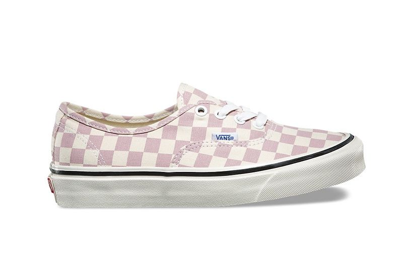 The Checkered Vans Authentic Gets a Pastel Lilac Makeover  847497b86