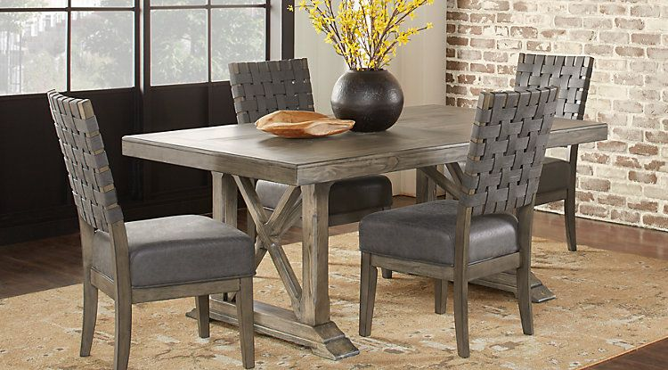 Bristow Charcoal 5 Pc Rectangle Dining Room Dining Room Sets Round Dining Room Dining Table Dimensions