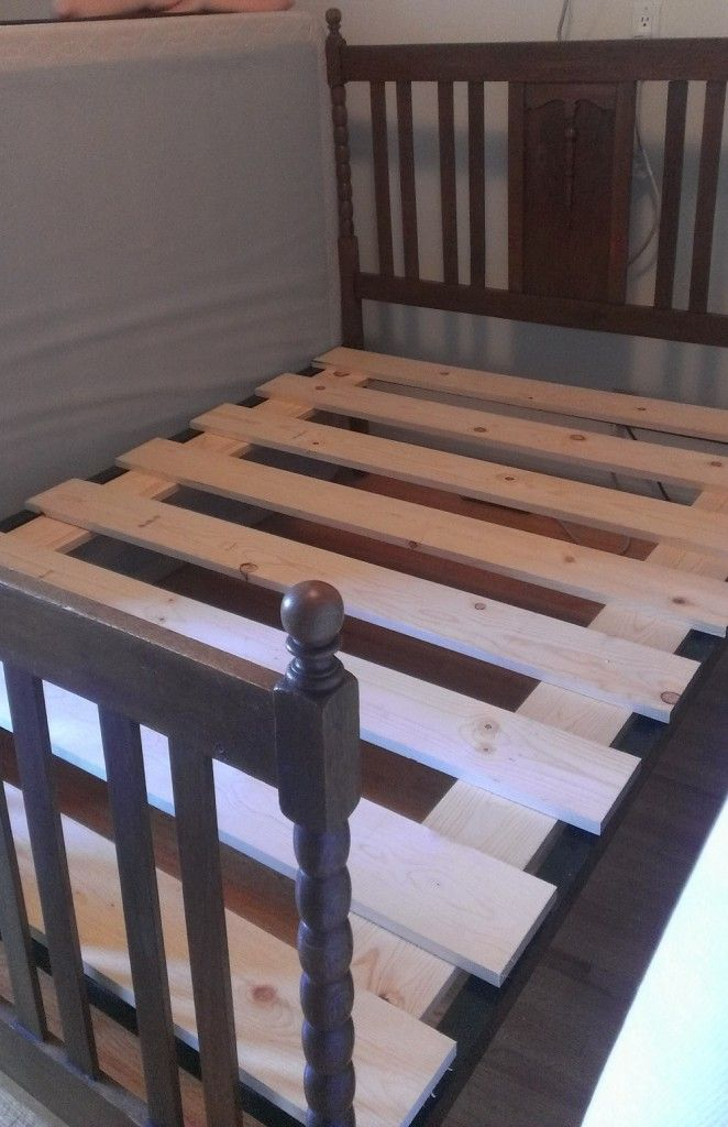 Let Me Fix You Box Spring To Bed Slats Box Spring Bed Frame