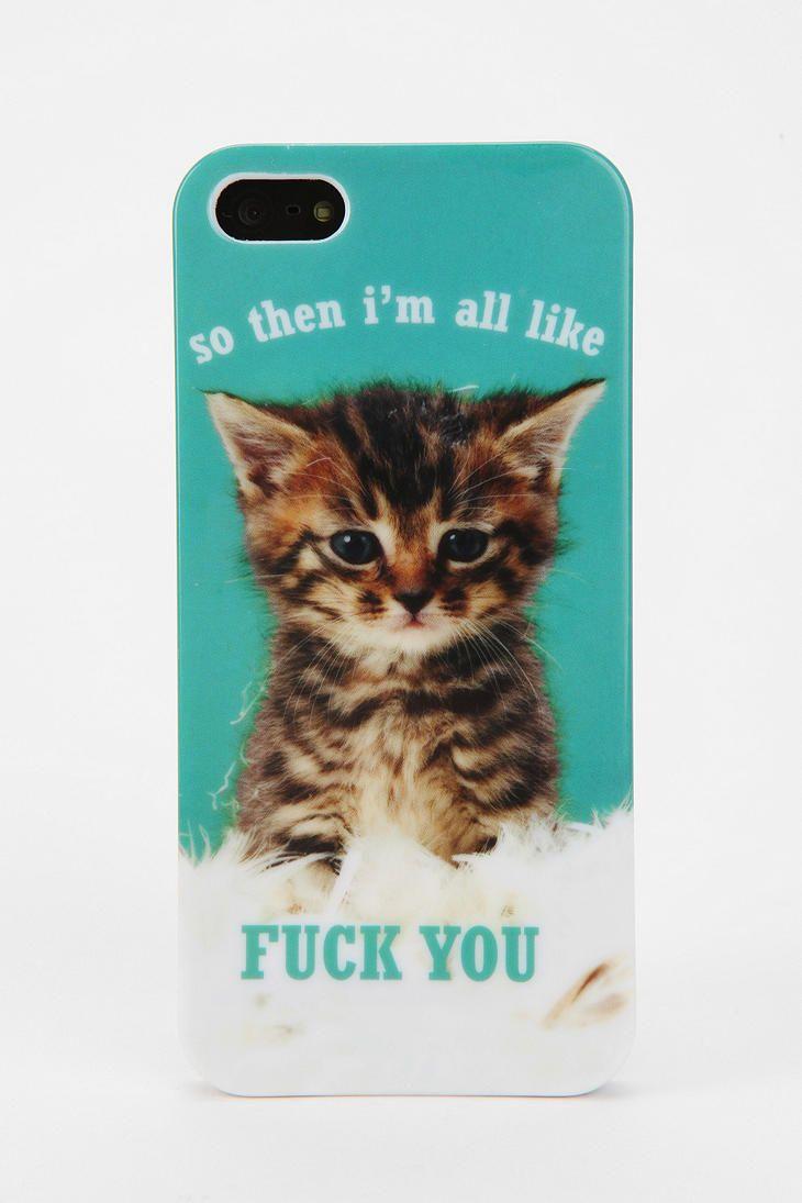 Uo Kitten Iphone 5 5s Case 5s Cases Kitten Iphone 5 Case