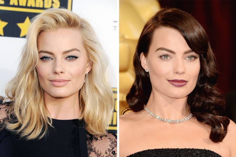 Margot Robbie would probably suit her hair wrapped in a bin bag - she suits blonde and brunette so incredibly well, we're jealous!