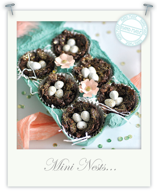 Gluten free mini decadent chocolate nests