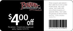 coupon code for pirates voyage myrtle beach sc