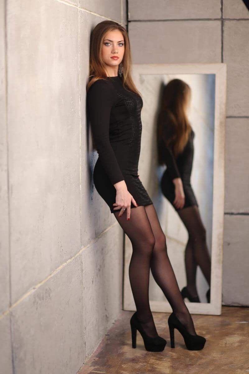 Black Tights And Stockings Fashion Tight Mini Dress Women [ 1200 x 800 Pixel ]