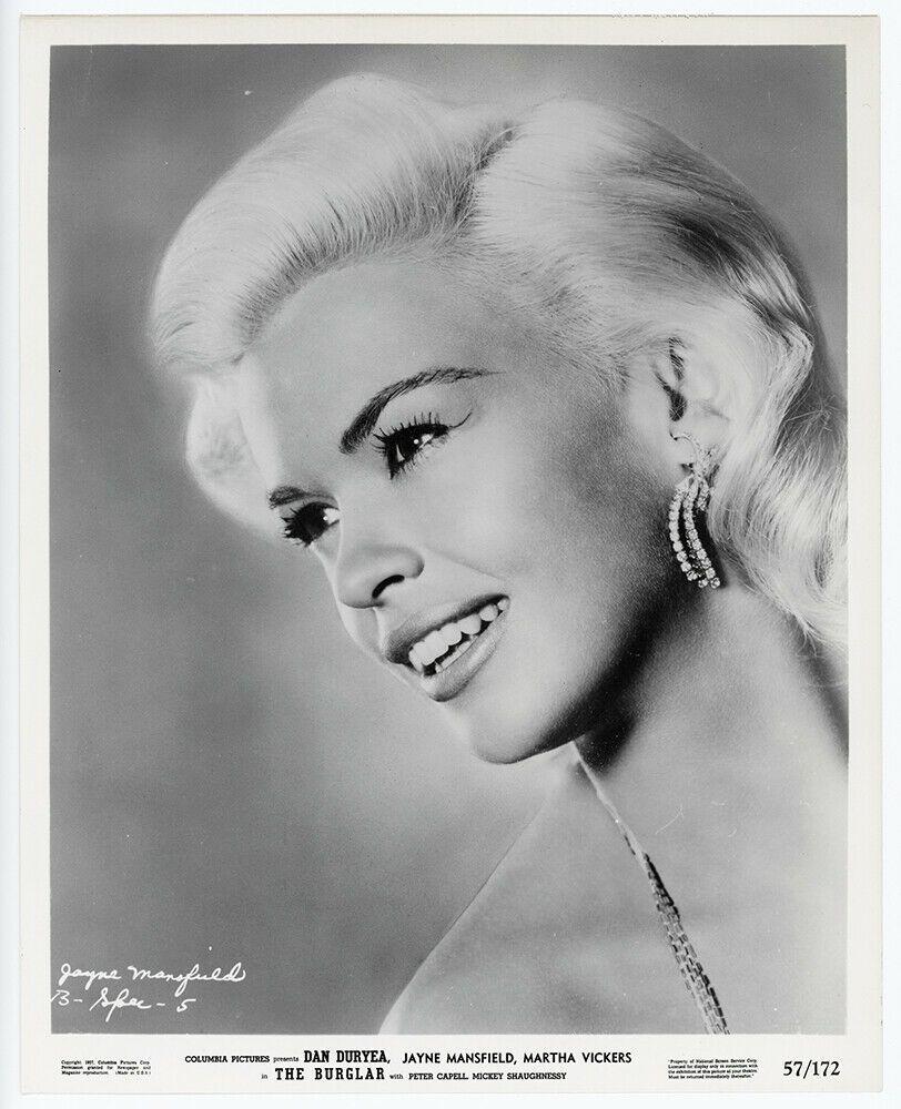 Glamorous Hollywood Blonde Jayne Mansfield Vintage 1957 The Burglar Photograph   Jayne mansfield ...
